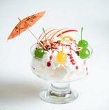 Tasty fruit cream Stock Image