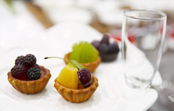 Tasty fruit dessert on plate Royalty Free Stock Photo