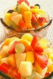 Tasty fruit salad. Enjoying tasty fruit salad in summertime stock image