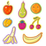 Tasty fruits and berries. Cartoon set Royalty Free Stock Photography