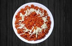 Tasty Gajar ka Halwa or carrot dessert Royalty Free Stock Photos