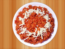 Tasty Gajar ka Halwa or carrot dessert Royalty Free Stock Photo