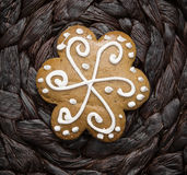 Tasty gingerbread cookie Stock Photos