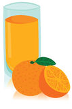 Tasty Glass of Orange Juice Royalty Free Stock Images