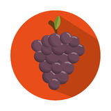 Tasty grape harvest juicy design con. Illustration eps 10 Stock Image