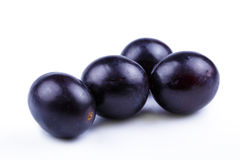 Tasty grapes on a white background. Stock Photos