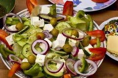 Tasty greek salad royalty free stock photo