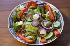 Tasty greek salad Royalty Free Stock Photos