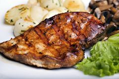 Tasty grilled food Stock Images