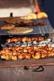 Tasty grilled kebab Royalty Free Stock Image