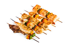 Tasty grilled meat, shish kebab Royalty Free Stock Images