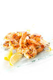 Tasty grilled prawn salad Royalty Free Stock Images