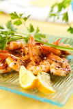 Tasty grilled prawn salad Stock Image