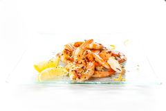 Tasty grilled prawn salad Stock Photography