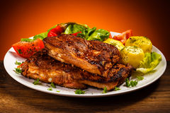 Tasty grilled ribs Royalty Free Stock Photo