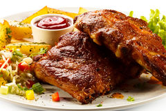 Tasty grilled ribs Stock Images