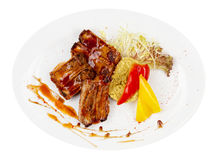 Tasty grilled ribs Royalty Free Stock Images