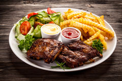 Tasty grilled ribs Royalty Free Stock Photography