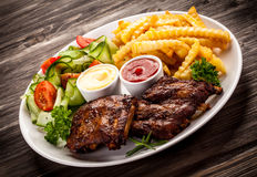 Tasty grilled ribs Stock Image