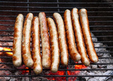 Tasty grilled sausages Stock Image