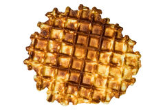 Tasty grilled waffle close Royalty Free Stock Photos
