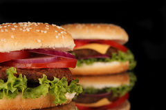 Tasty hamburger Stock Photos