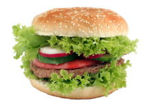 Tasty hamburger Stock Images