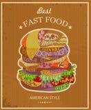 Tasty hamburger Stock Image