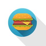 Tasty hamburger  icon Stock Images