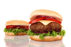 Tasty hamburgers Stock Photography