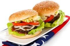 Tasty Hamburgers. Stock Photography