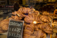 Tasty hand made croissants Stock Images