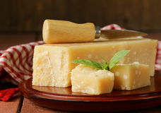 Tasty hard parmesan cheese Royalty Free Stock Photography