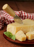 Tasty hard parmesan cheese Royalty Free Stock Photo
