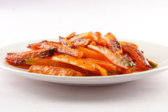 Tasty and healthy Baked carrots . Stock Images