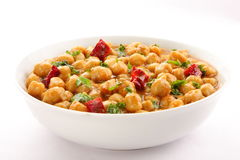 Tasty and healthy chickpea curry dish Royalty Free Stock Photo