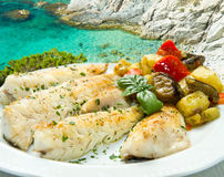Tasty healthy fish fillet Royalty Free Stock Images