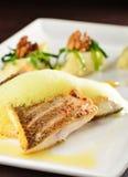 Tasty healthy fish fillet with potato Royalty Free Stock Photos