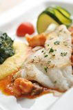 Tasty healthy fish fillet Royalty Free Stock Image