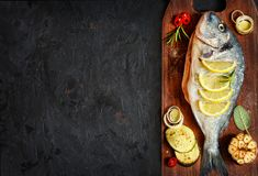 Tasty healthy fish. Royalty Free Stock Images