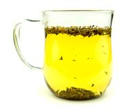 Tasty healthy green tea in a cup Royalty Free Stock Photography