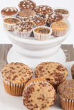 Tasty and healthy  muffin cakes Royalty Free Stock Images