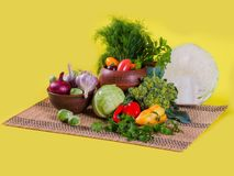 Tasty, healthy, natural vegetables stock photos
