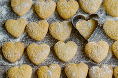 Tasty heart-shaped cookies Royalty Free Stock Image