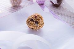 Home-made  nibble - muesli - small ball Stock Photos