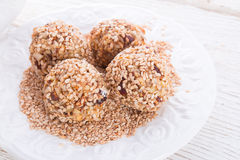 Home-made  nibble - muesli - small ball Stock Photo
