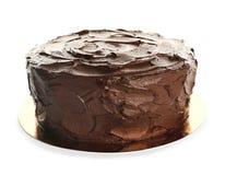Tasty homemade chocolate cake. On white background royalty free stock images