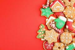 Tasty homemade Christmas cookies stock photos