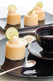 Tasty homemade japanese cheesecake with butter cream. Royalty Free Stock Photo
