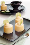 Tasty homemade japanese cheesecake with butter cream. Royalty Free Stock Image